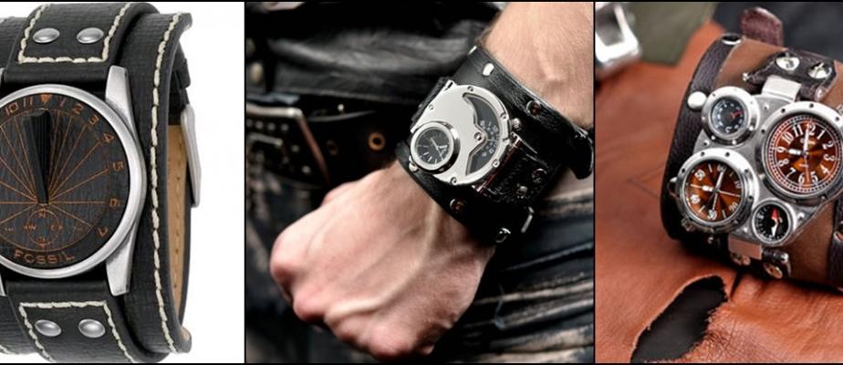кожаные браслеты для часов являются стильными мужскими аксессуарами
