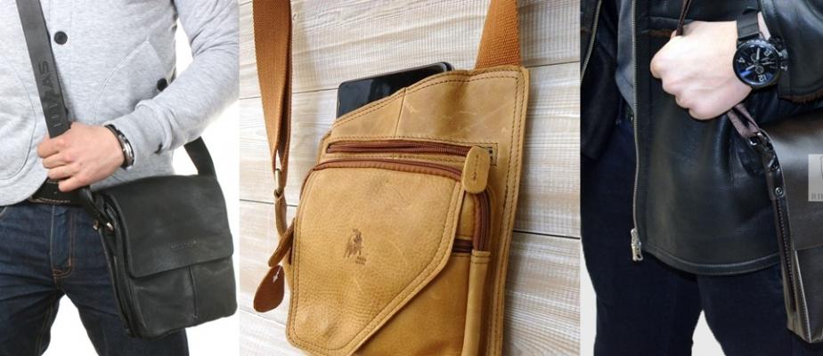 58faacd154e0 Мужские сумки через плечо - тренд этого сезона