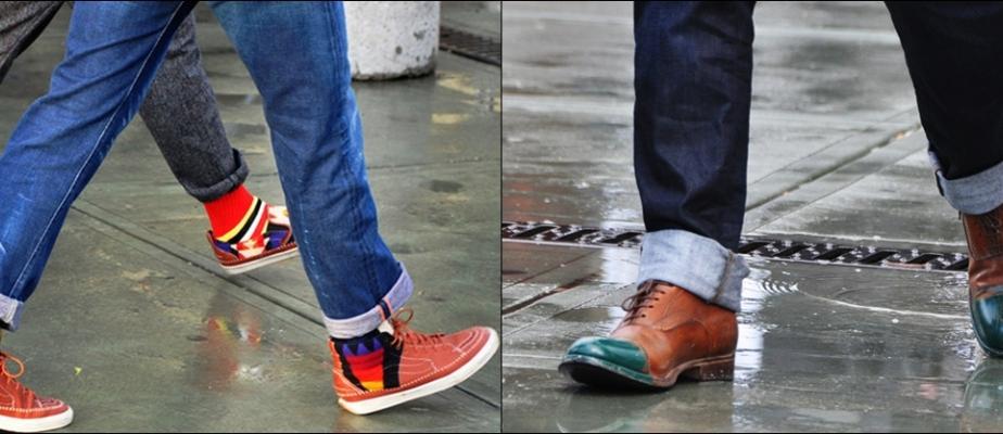подвернутые брюки