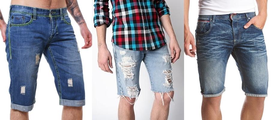 Как из старых джинсов сделать мужские шорты из джинс 172