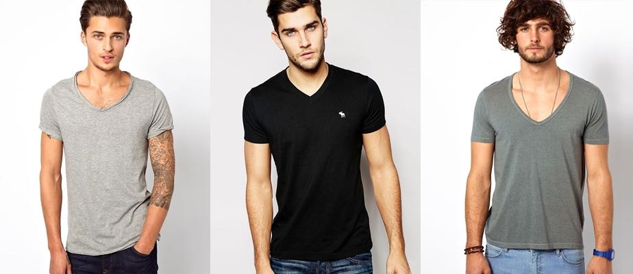 Мужские футболки с V-образным вырезом  модные тенденции и советы по ... de1b0d8fa0681