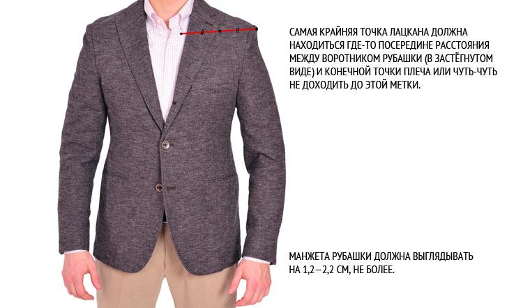 как подобрать пиджак