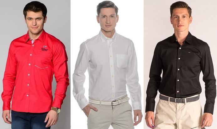 разноцветные мужские рубашки