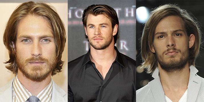Мужские прически на волосы средней длины