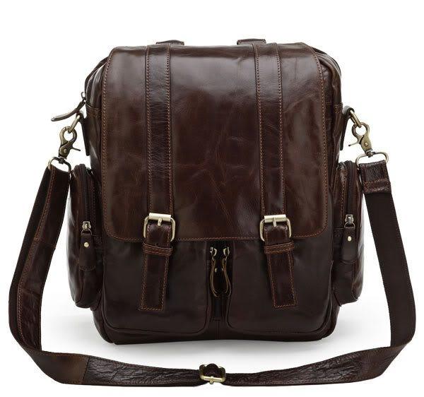 Мужские сумки рюкзаки от этого производителя изготавливаются из качественной натуральной кожи
