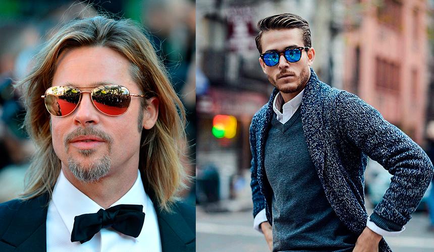 Солнцезащитные очки для мужчин  материал, цвет и форма  главные тренды 14b1ea3f824