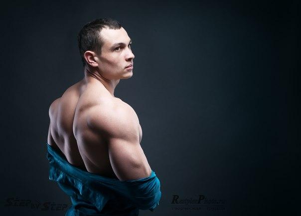 спортсмен на фотосессии