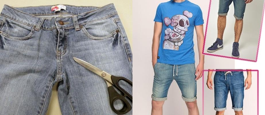 Как из старых джинсов сделать мужские шорты из джинс 937