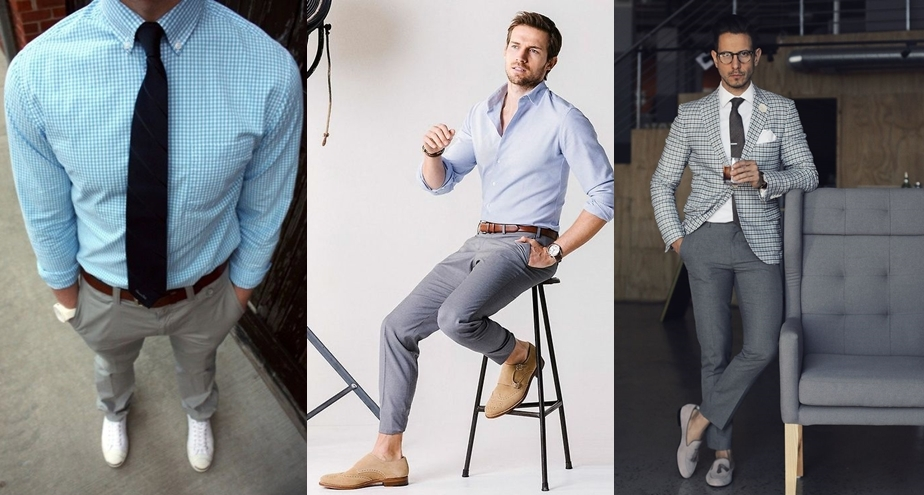 Что одеть под серые брюки мужчины