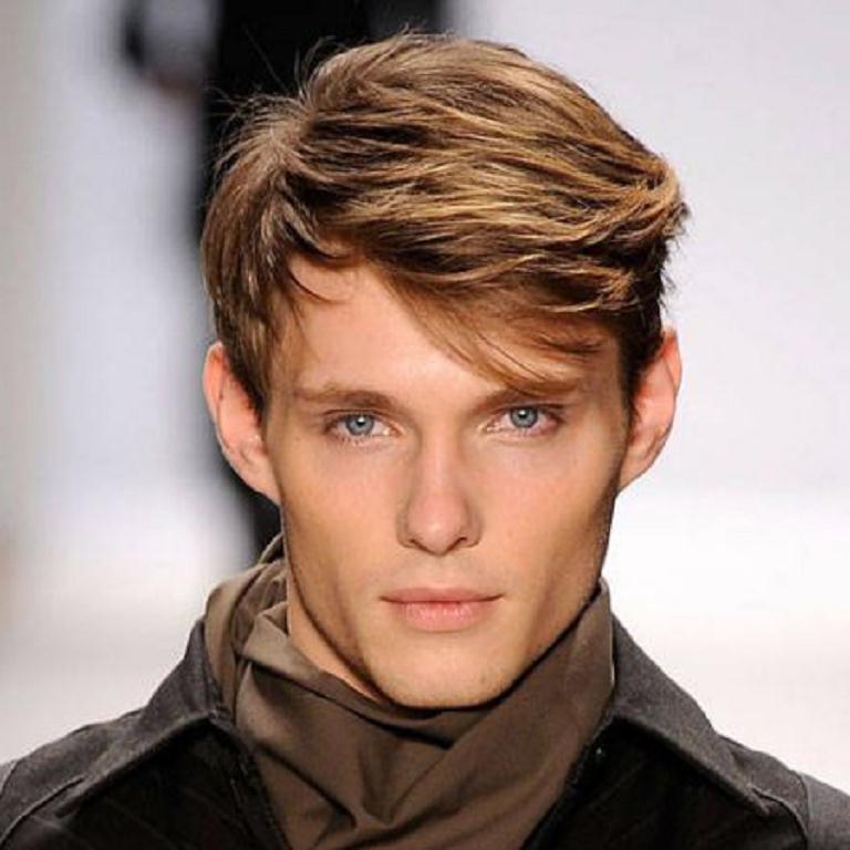 Мужские прически на средние волосы с челкой