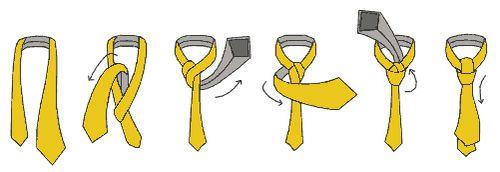 Как завязывать галстук схема простой способ